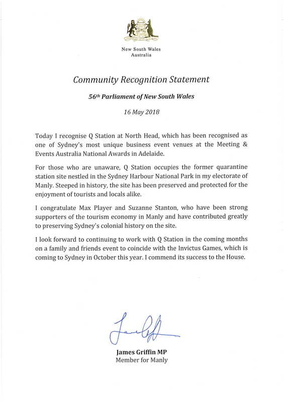 Community Recognition Statement
